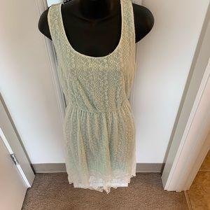 Dresses & Skirts - Lace High Low Aqua Dress